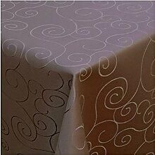 Tischdecke Damast mit Saum im Ornamentedesign -