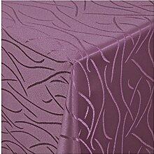Tischdecke Damast mit Saum im Streifendesign -