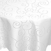 Tischdecke Damast Ornamente Bügelfrei 160x300cm