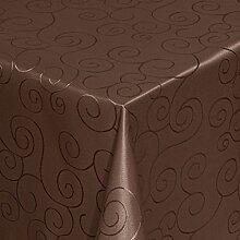 Tischdecke Damast Ornamente mit Saum, Eckig Oval