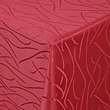 Tischdecke Damast Streifen mit Saum, Eckig Oval