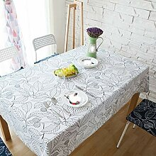 Tischdecke decke Baumwolle Blatt Druck einfache