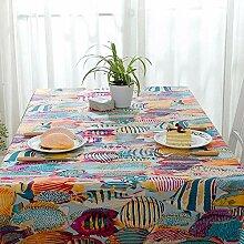 Tischdecke decke Baumwolle gefütterte Cartoon