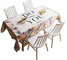 Tischdecke decke Baumwollleinentischdecke