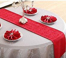 Tischdecke decke/Bett Renner/Tischdecke decke/Abdeckung Tuch/Zierleiste/ Tisch/Tischdecke decke-L 33x240cm(13x94inch)