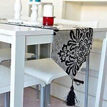 Tischdecke decke/Damaskus heißen Silber Tischläufer/Tischläufer/Tisch/Tischdecke decke/Abdeckung Tuch/Bett Renner-B 32x250cm(13x98inch)