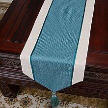 Tischdecke decke/Klassische Vintage Tischdecke/solid Color Baumwolle und Leinen Tischläufer/Bett Renner/Tischdecke decke/Tischdecke decke-D 33x200cm(13x79inch)