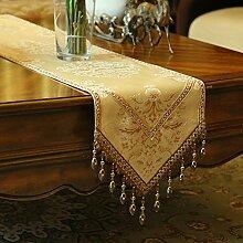 Tischdecke decke/Pastorale Einfachheit Tabelle Flagge Mode/Bett Renner/Tisch/TV-Läufer-A 33x220cm(13x87inch)
