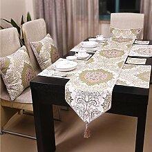 Tischdecke decke Tisch-Tischläufer Coffee Table Tischläufer Bett Renner Abdeckung Tuch Tischdecke decke-A 30x220cm(12x87inch)