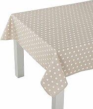 Tischdecke Dots Size: 250 cm H x 140 cm W x 0.01 cm D, Colour: Natural