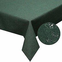 Tischdecke dunkel grün 130x 220cm Lotuseffekt, abwaschbar, Schmutz- und Wasserabweisend, eckig - Größe, Farbe & Form wählbar (Rund Eckig Oval)
