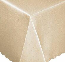 Tischdecke eckig 130x300 cm Phase Struktur Tafeltuch bügelfrei fleckenabweisend #1253 (ecru)