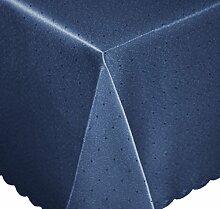 Tischdecke eckig 135x180 cm Phase Struktur Tafeltuch bügelfrei fleckenabweisend #1251 (dunkel blau)