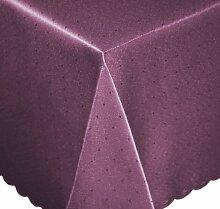 Tischdecke eckig 135x200 cm Phase Struktur Tafeltuch bügelfrei fleckenabweisend #1252 (lila)