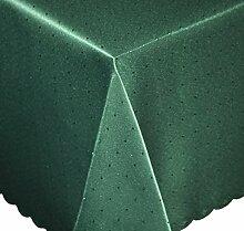 Tischdecke eckig 135x200 cm Phase Struktur Tafeltuch bügelfrei fleckenabweisend #1252 (dunkelgrün)