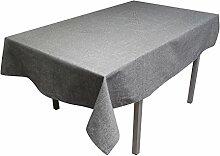 Tischdecke eckig 140x240 cm JEAN'S grau