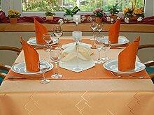 TISCHDECKE eckig teflonbeschichtet, pflegeleicht in Designs:Eleganz Farbe: apricot-aprikose Maß: 145x240