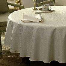 Tischdecke: Edle Jacquard-Damast-Tischwäsche mit