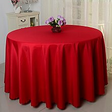 Tischdecke einfach Hotel Hochzeit Bankett Reinigungstuch rund Farbe Tischdecke, Stoff, rot, 240cm(94.48in)