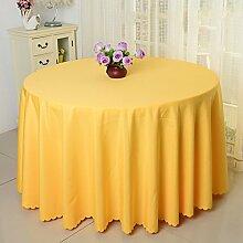 Tischdecke einfach Hotel Hochzeit Bankett Reinigungstuch rund Farbe Tischdecke, Stoff, goldgelb, 180cm(70.86in)