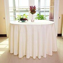 Tischdecke einfach Hotel Hochzeit Bankett Reinigungstuch rund Farbe Tischdecke, Stoff, beige, 280cm(110.23in)