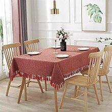Tischdecke Einfarbig Verdickung Quaste Tischdecke