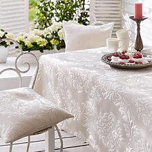 Tischdecke: Elegante Matelassé-Tischwäsche mit