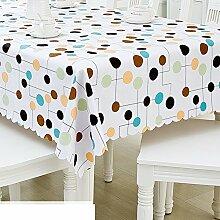 Tischdecke/europäisch,lÄndlichen],[lace tabletuch]/wasserdicht],einweg,plastiktuch kunst/tischtuch/pvc tischdecke/lace table mat-A 137x190cm(54x75inch)