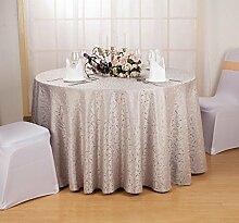 Tischdecke Europäische Restaurant Restaurant Tischdecke Hotel Tischdecke Stoff Home Kaffee Tisch Quadratische runde Tisch Tischdecke Tischdecke ( Farbe : C , größe : Round 180cm )