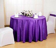 Tischdecke Europäische Restaurant Restaurant Tischdecke Hotel Tischdecke Stoff Home Kaffee Tisch Quadratische runde Tisch Tischdecke Tischdecke ( Farbe : B , größe : Round 160cm )