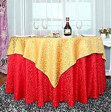 Tischdecke Europäisches Hotel Tischdecke Retro Restaurant Hotel Home Tischdecke Doppel Tisch Tuch Größe Runder Tisch Stoff Stoff ( Farbe : A , größe : .2.2 m round )