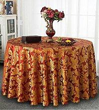 Tischdecke Europäisches Hotel Tischdecke, Stoff runder Speisetisch, Hotel-Gaststätte-Tabelle Kaffeetisch-Tuch Kundenspezifische Tabelle runde Tisch-Tischdecke ( Farbe : A , größe : Square 1.2*1.8m )