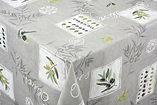 Tischdecke Eygalieres grau Tischwäsche Baumwolle