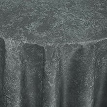 Tischdecke Firenze rund, 160 cm (Ø), grau, rund