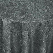Tischdecke Firenze rund, 160 cm (Ø), grau