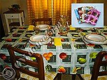 Tischdecke fleckenabweisend bügelfrei 140x 240Farbe Pink
