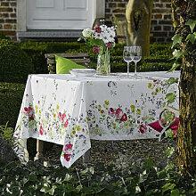 Tischdecke: Florale Tischwäsche mit Fleckenschutz