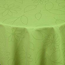 Tischdecke Floralie rund, 140 cm (Ø), lemon, rund