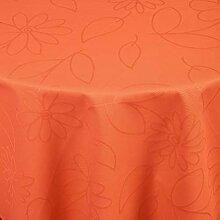 Tischdecke Floralie rund, 140 cm (Ø), mandarine,