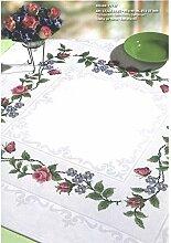 Tischdecke für gezählten Kreuzstich von Rico 90 x 90 cm mit Aidafeld Komplettpackung Art.-Nr.77727