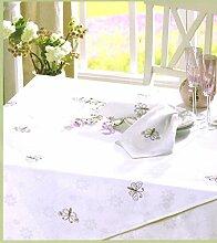 Tischdecke für gezählten Kreuzstich von Rico 90 x 90 cm mit Aidafeld-Schmetterling Komplettpackung