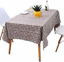 Tischdecke für Tisch Wasserdicht Baumwolle Leinen