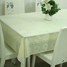 Tischdecke, Full Size PVC Wasserdicht Transparente Couchtisch Kristallplatte Esstisch Verschiedene Stile ( Farbe : #5 , größe : 136x136cm )