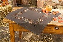 Tischdecke Herbstlaub braun Tischläufer mit Blätter