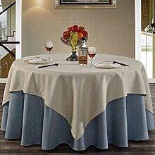 Tischdecke Hotel Linen runde Tischdecke quadratische Tischdecke Tischdecke Kaffee Tischdecke Abdeckung Tuch reine Farbe Elegance Retro Verdickung undurchsichtig ( Farbe : A3 , größe : 300cm )