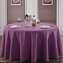 Tischdecke Hotel Linen runde Tischdecke quadratische Tischdecke Tischdecke Kaffee Tischdecke Abdeckung Tuch reine Farbe Elegance Retro Verdickung undurchsichtig ( Farbe : A5 , größe : 400cm )
