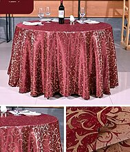 Tischdecke Hotel Tischdecke Hotel Round Tischdecke Continental Restaurant Rechteckige Tischdecke Großer runder Tisch Tischdecke ( Farbe : A4 , größe : Round 1.8m )