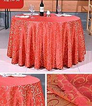Tischdecke Hotel Tischdecke Hotel Round Tischdecke Continental Restaurant Rechteckige Tischdecke Großer runder Tisch Tischdecke ( Farbe : A5 , größe : Rounds 2.6m )