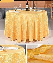 Tischdecke Hotel Tischdecke Hotel Round Tischdecke Continental Restaurant Rechteckige Tischdecke Großer runder Tisch Tischdecke ( Farbe : A3 , größe : Rounds 2.4m )