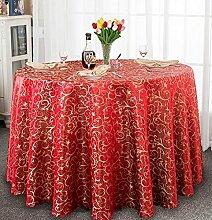 Tischdecke Hotel-Tischdecke-Tuch europäisches Gaststätte-Hotel-Tischdecke nach Maß Kaffee-Tabellen-runde runde Tisch-Tischdecke-Tischdecke ( Farbe : A , größe : 340cm )